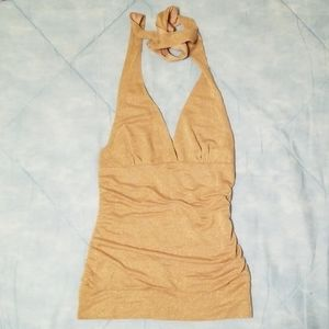 H&M Halter Top in Gold